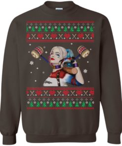 image 572 247x296px Harley Quinn Ugly Christmas Sweater Shirt