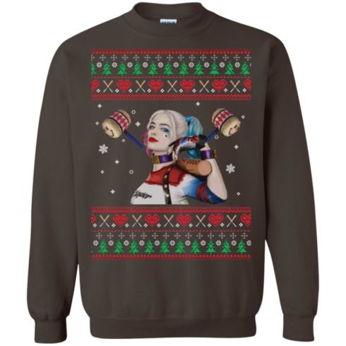 image 572 490x490px Harley Quinn Ugly Christmas Sweater Shirt