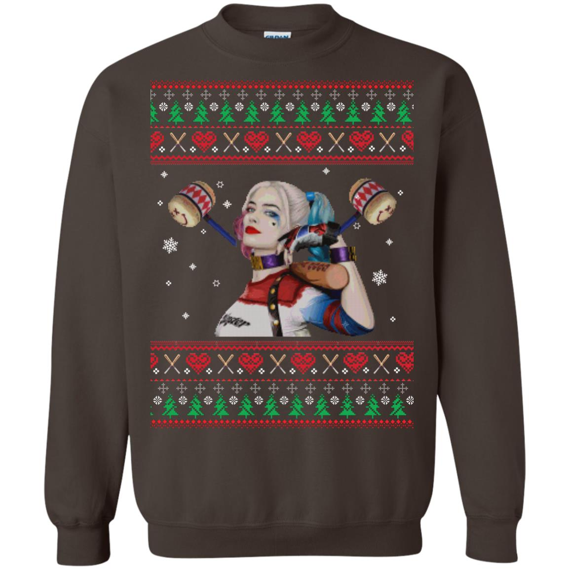 image 572px Harley Quinn Ugly Christmas Sweater Shirt
