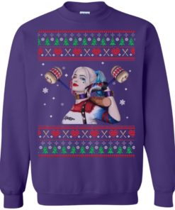 image 573 247x296px Harley Quinn Ugly Christmas Sweater Shirt