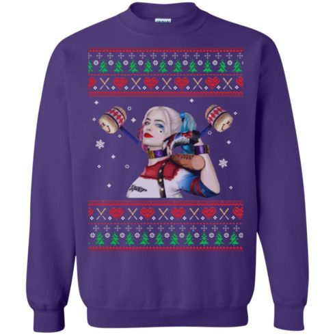 image 573 490x490px Harley Quinn Ugly Christmas Sweater Shirt