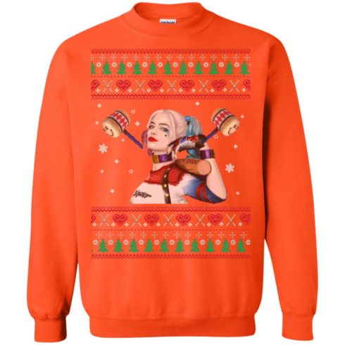 image 574 490x490px Harley Quinn Ugly Christmas Sweater Shirt