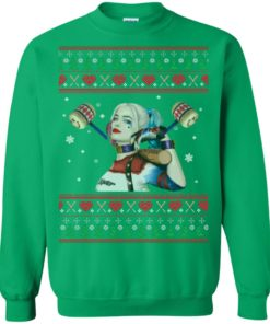 image 575 247x296px Harley Quinn Ugly Christmas Sweater Shirt