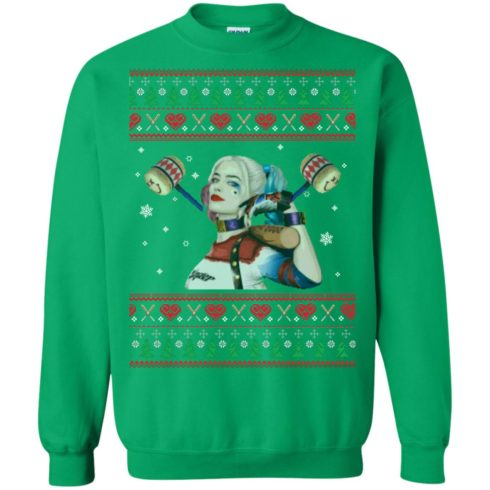 image 575 490x490px Harley Quinn Ugly Christmas Sweater Shirt