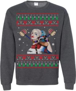image 576 247x296px Harley Quinn Ugly Christmas Sweater Shirt