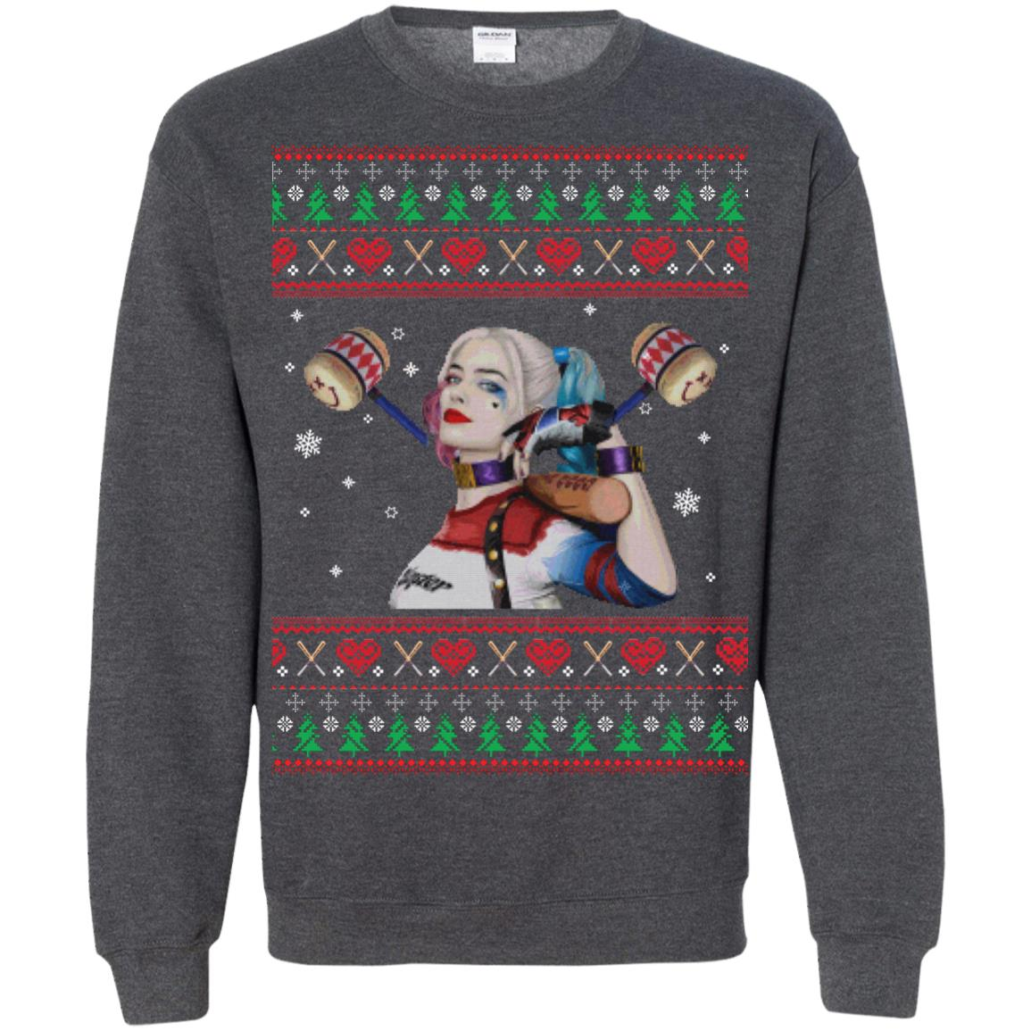 image 576px Harley Quinn Ugly Christmas Sweater Shirt