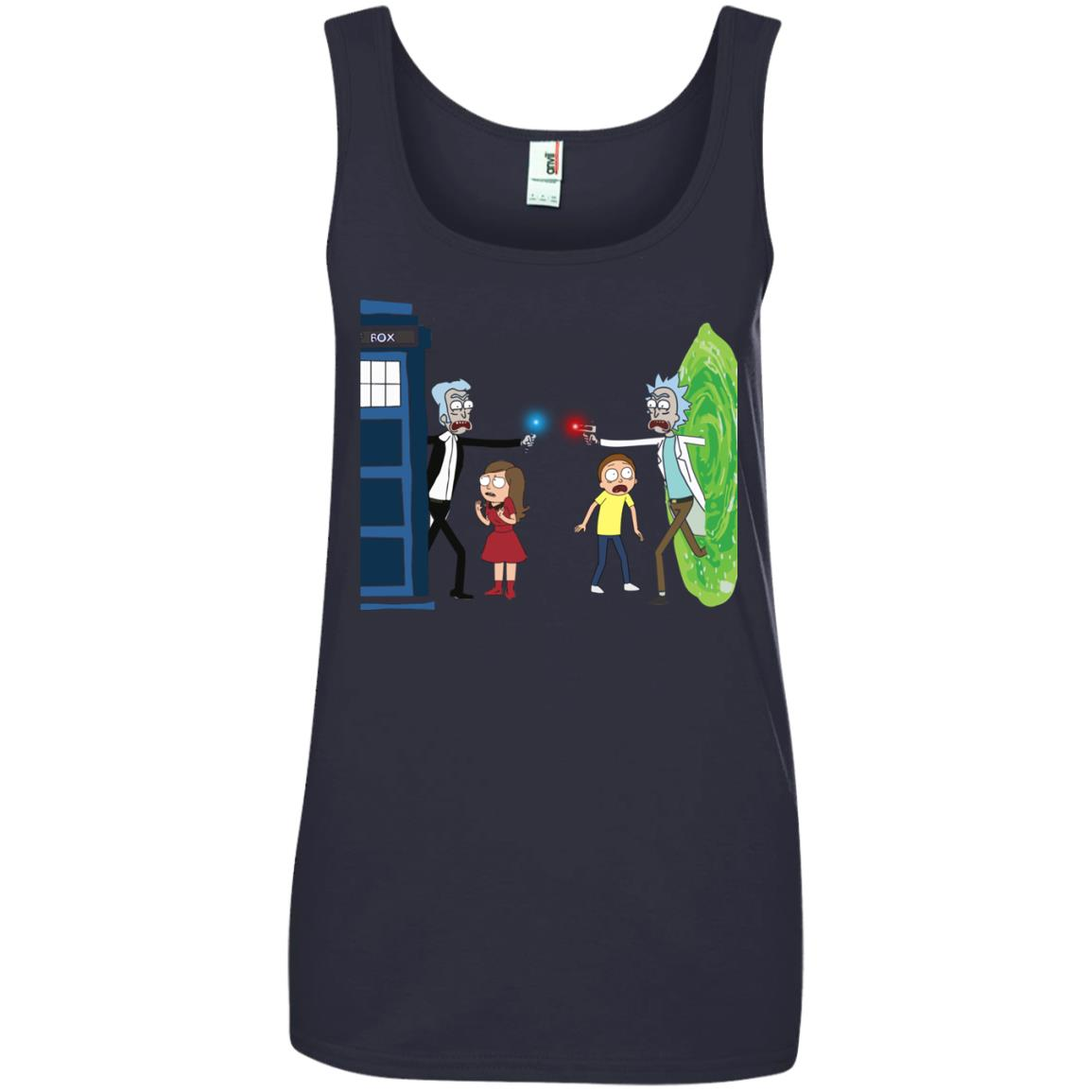 image 58px Doctor Who vs Rick and Morty Mashup T Shirts, Hoodies, Tank Top