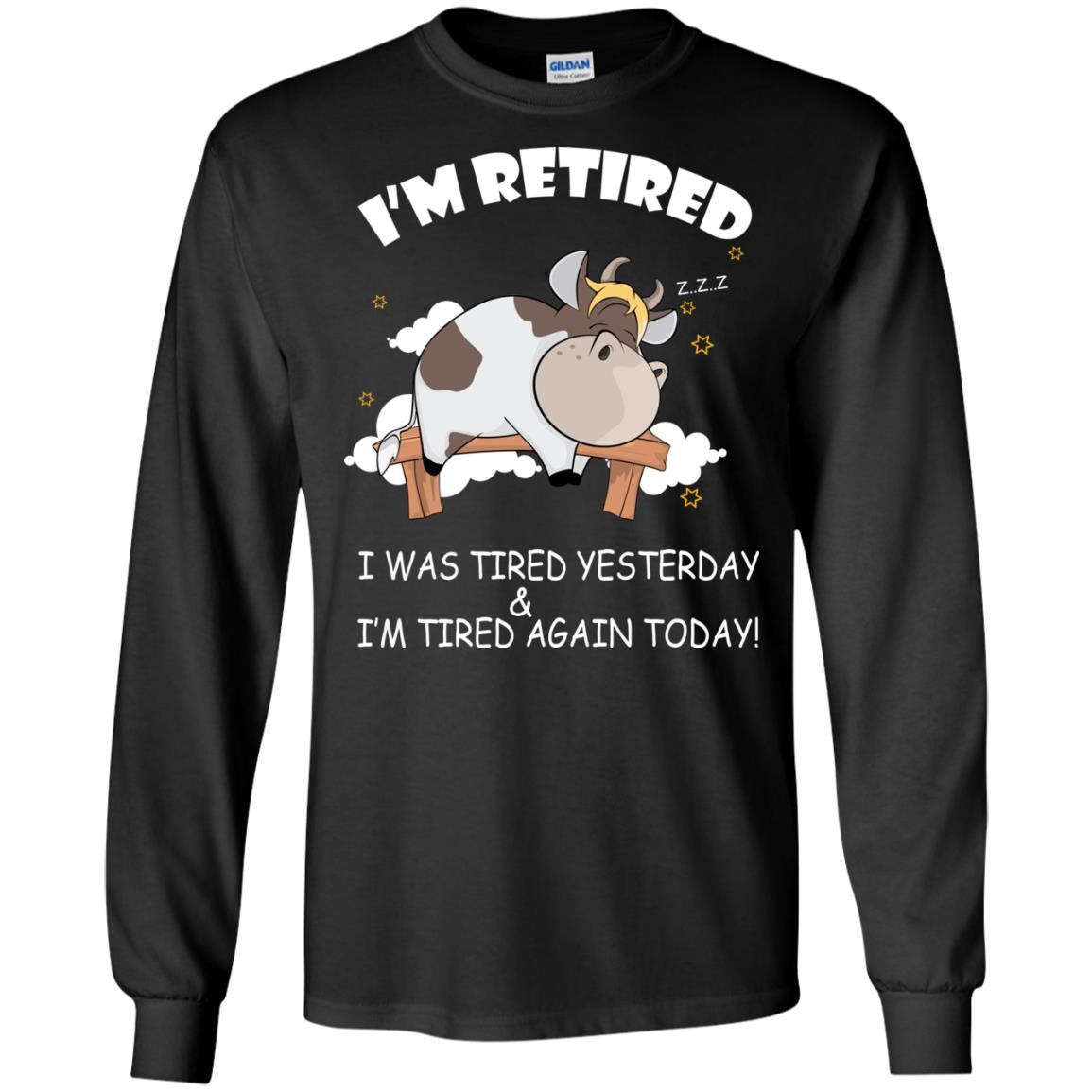 image 591px Farmer: I'm Retired, I Was Tired Yesterday & I'm Tired Again Today T Shirts