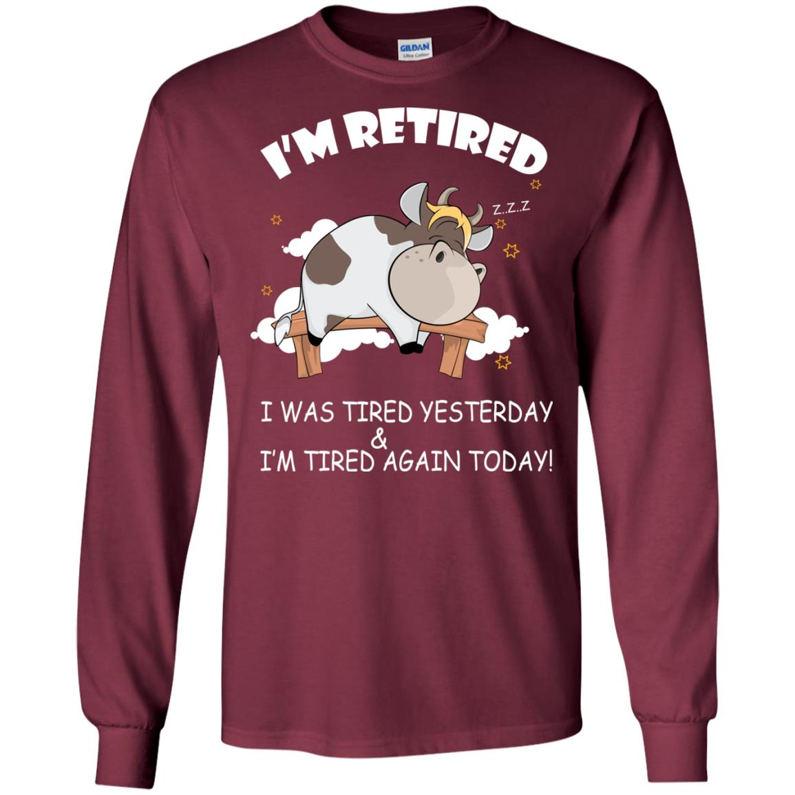 image 592px Farmer: I'm Retired, I Was Tired Yesterday & I'm Tired Again Today T Shirts