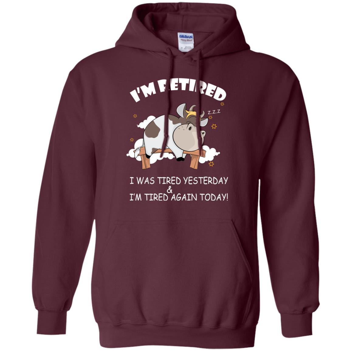 image 596px Farmer: I'm Retired, I Was Tired Yesterday & I'm Tired Again Today T Shirts