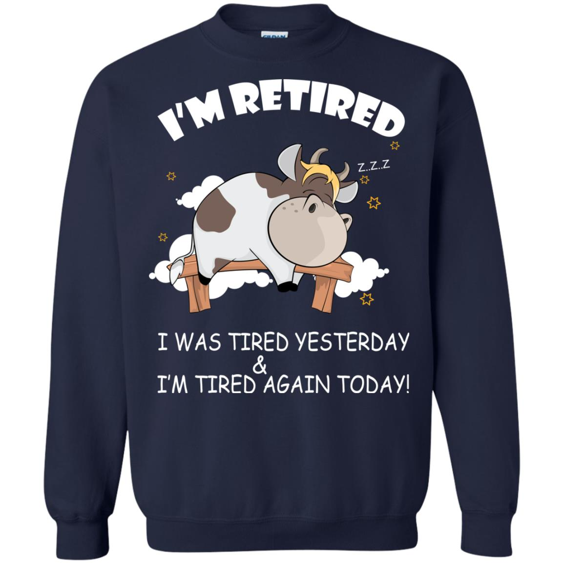 image 602px Farmer I'm Retired I Was Tired Yesterday & I'm Tired Again Today Sweater
