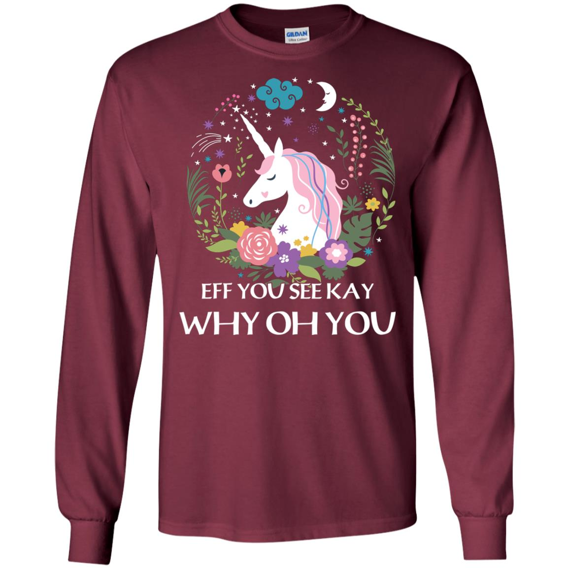 image 615px Unicorn: Eff You See Kay Why Oh You T Shirts, Hoodies, Tank