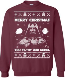 image 733 247x296px Star Wars Merry Christmas You Filthy Jedi Rebel Christmas Sweater