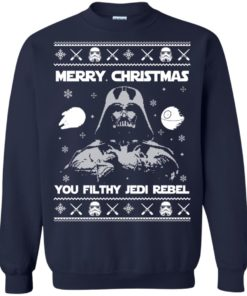 image 734 247x296px Star Wars Merry Christmas You Filthy Jedi Rebel Christmas Sweater