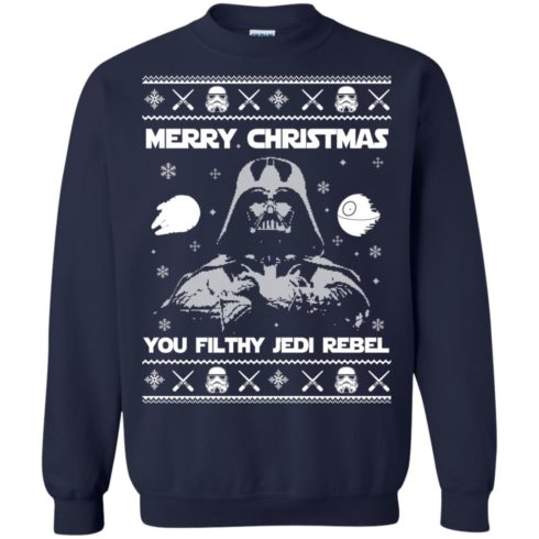 image 734 490x490px Star Wars Merry Christmas You Filthy Jedi Rebel Christmas Sweater