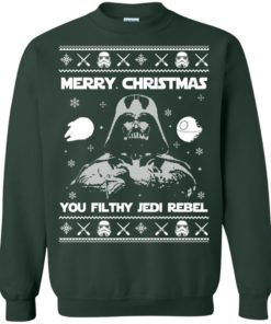 image 736 247x296px Star Wars Merry Christmas You Filthy Jedi Rebel Christmas Sweater