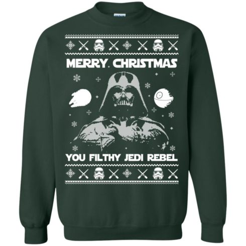 image 736 490x490px Star Wars Merry Christmas You Filthy Jedi Rebel Christmas Sweater