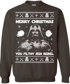 image 738 247x296px Star Wars Merry Christmas You Filthy Jedi Rebel Christmas Sweater