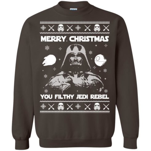 image 738 490x490px Star Wars Merry Christmas You Filthy Jedi Rebel Christmas Sweater