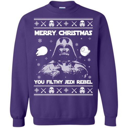 image 739 490x490px Star Wars Merry Christmas You Filthy Jedi Rebel Christmas Sweater