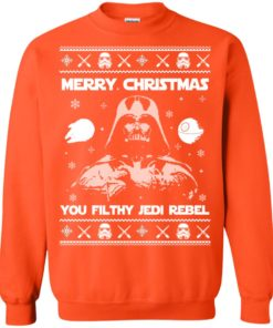 image 740 247x296px Star Wars Merry Christmas You Filthy Jedi Rebel Christmas Sweater