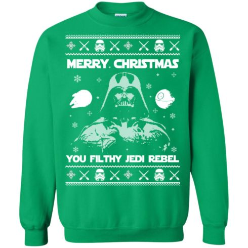 image 741 490x490px Star Wars Merry Christmas You Filthy Jedi Rebel Christmas Sweater