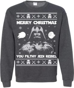 image 742 247x296px Star Wars Merry Christmas You Filthy Jedi Rebel Christmas Sweater