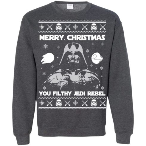 image 742 490x490px Star Wars Merry Christmas You Filthy Jedi Rebel Christmas Sweater