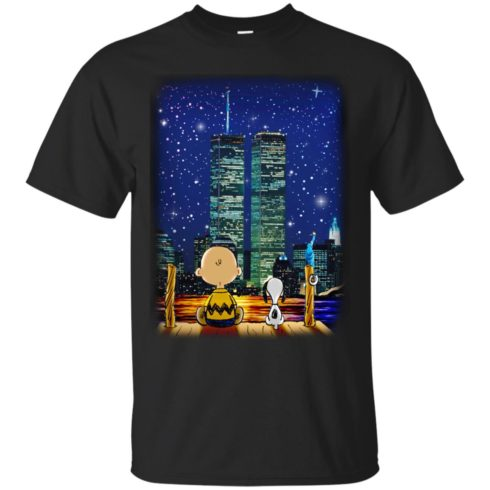 image 743 490x490px Snoopy and Charlie Brown World Trade Center 9/11 T Shirts, Hoodies, Tank