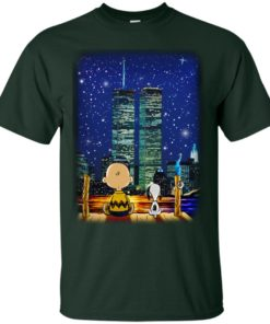 image 744 247x296px Snoopy and Charlie Brown World Trade Center 9/11 T Shirts, Hoodies, Tank