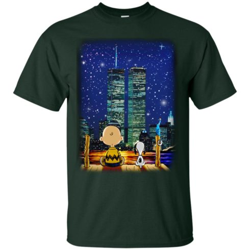 image 744 490x490px Snoopy and Charlie Brown World Trade Center 9/11 T Shirts, Hoodies, Tank