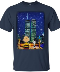 image 745 247x296px Snoopy and Charlie Brown World Trade Center 9/11 T Shirts, Hoodies, Tank