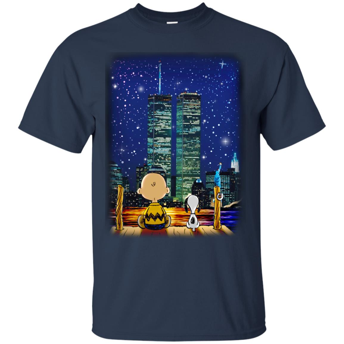 image 745px Snoopy and Charlie Brown World Trade Center 9/11 T Shirts, Hoodies, Tank