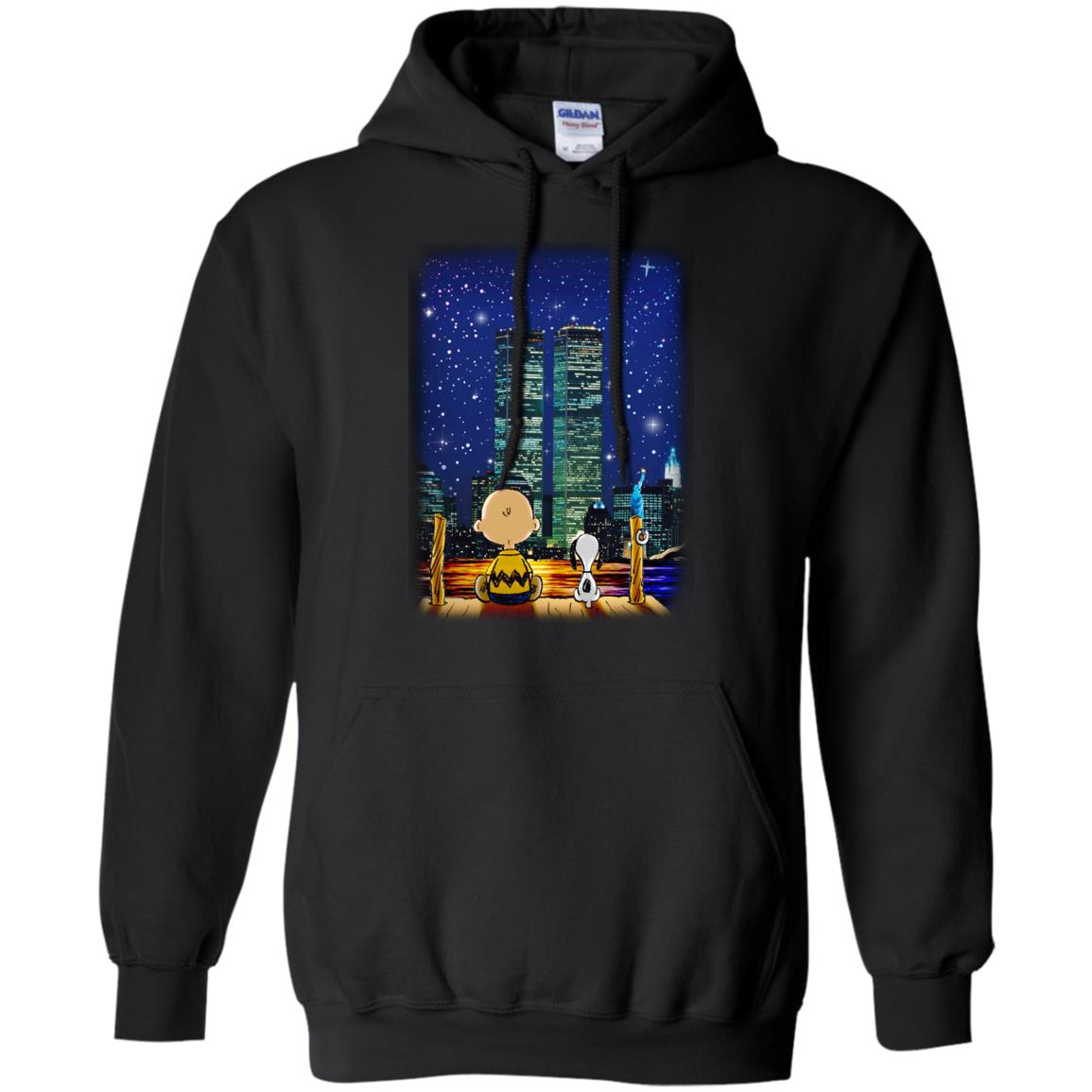image 746px Snoopy and Charlie Brown World Trade Center 9/11 T Shirts, Hoodies, Tank