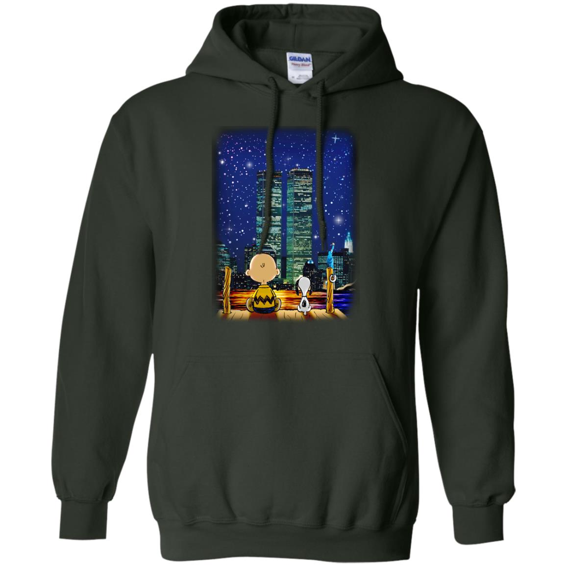 image 748px Snoopy and Charlie Brown World Trade Center 9/11 T Shirts, Hoodies, Tank