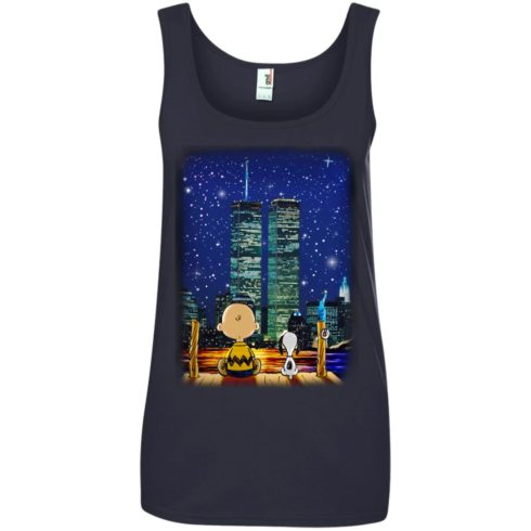 image 750 490x490px Snoopy and Charlie Brown World Trade Center 9/11 T Shirts, Hoodies, Tank