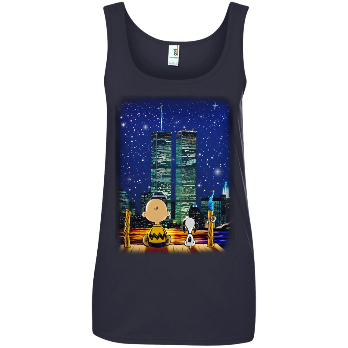 image 750px Snoopy and Charlie Brown World Trade Center 9/11 T Shirts, Hoodies, Tank
