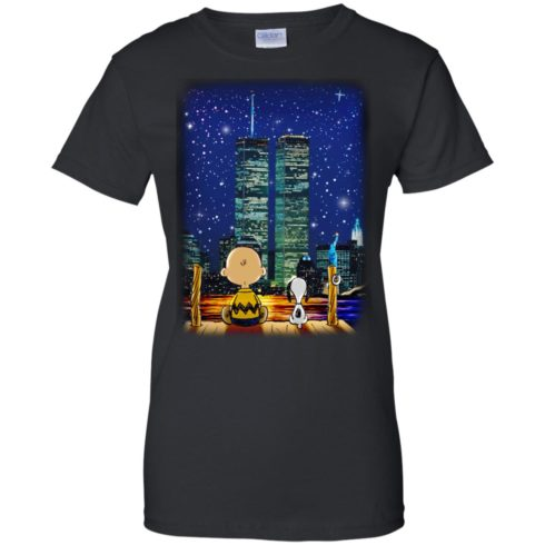 image 751 490x490px Snoopy and Charlie Brown World Trade Center 9/11 T Shirts, Hoodies, Tank