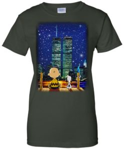 image 752 247x296px Snoopy and Charlie Brown World Trade Center 9/11 T Shirts, Hoodies, Tank