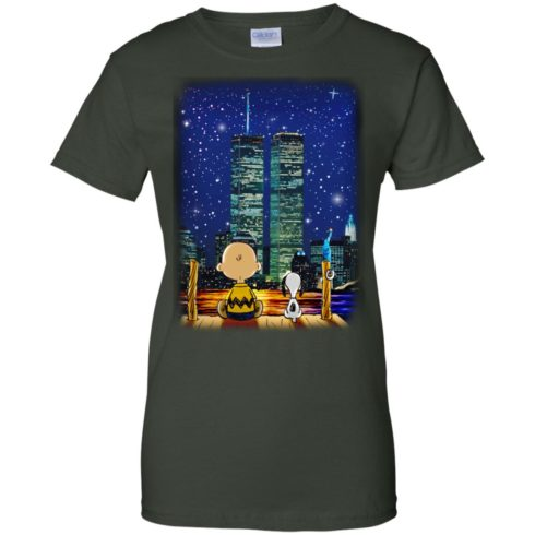 image 752 490x490px Snoopy and Charlie Brown World Trade Center 9/11 T Shirts, Hoodies, Tank