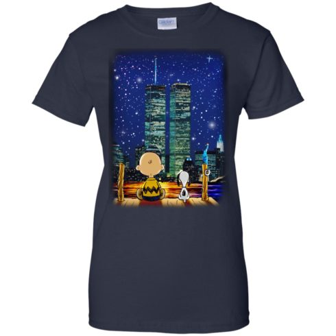 image 753 490x490px Snoopy and Charlie Brown World Trade Center 9/11 T Shirts, Hoodies, Tank