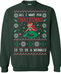 image 769 247x296px All I Want For Christmas Is To Be A Mermaid Christmas Sweater
