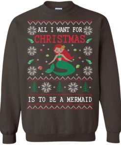 image 771 247x296px All I Want For Christmas Is To Be A Mermaid Christmas Sweater