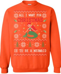 image 773 247x296px All I Want For Christmas Is To Be A Mermaid Christmas Sweater