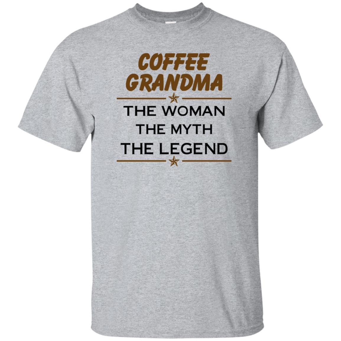 image 809px Coffee Grandma The Woman The Myth The Legend Shirt