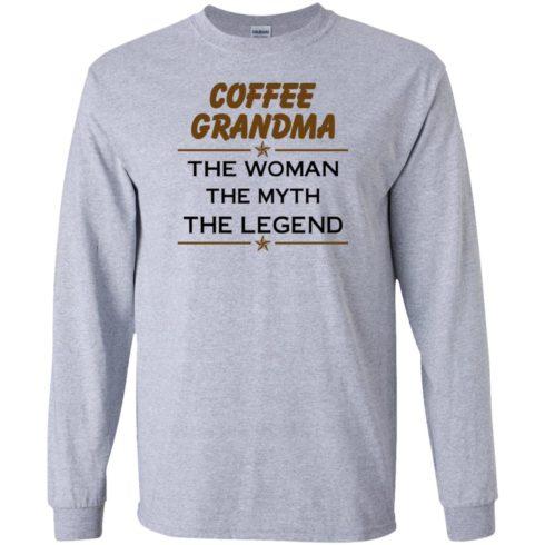 image 812 490x490px Coffee Grandma The Woman The Myth The Legend Shirt