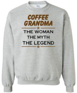 image 816 247x296px Coffee Grandma The Woman The Myth The Legend Shirt