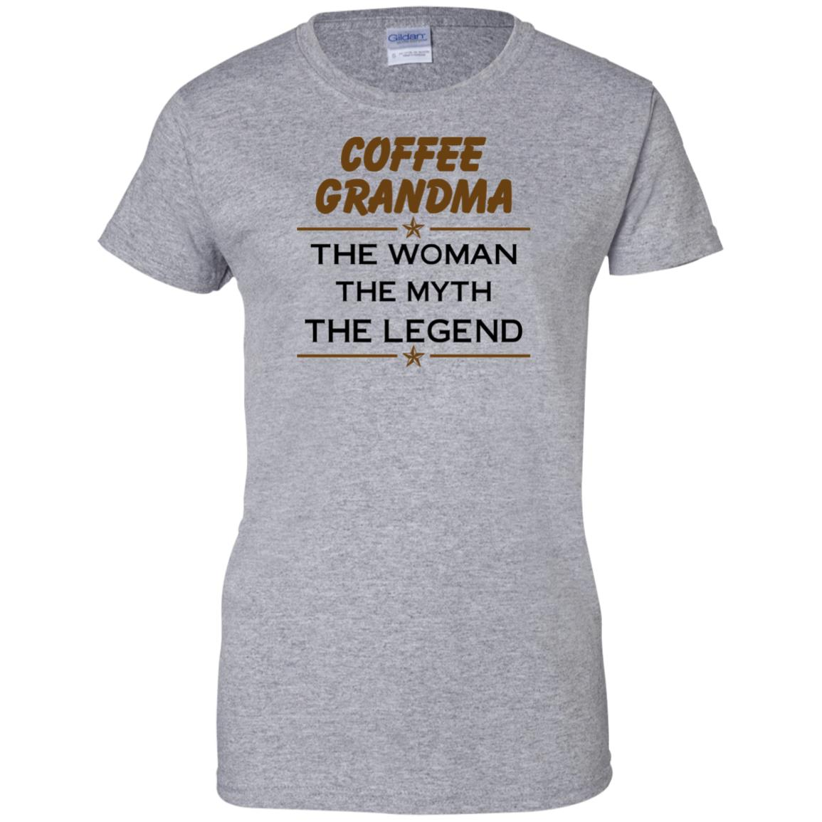 image 818px Coffee Grandma The Woman The Myth The Legend Shirt