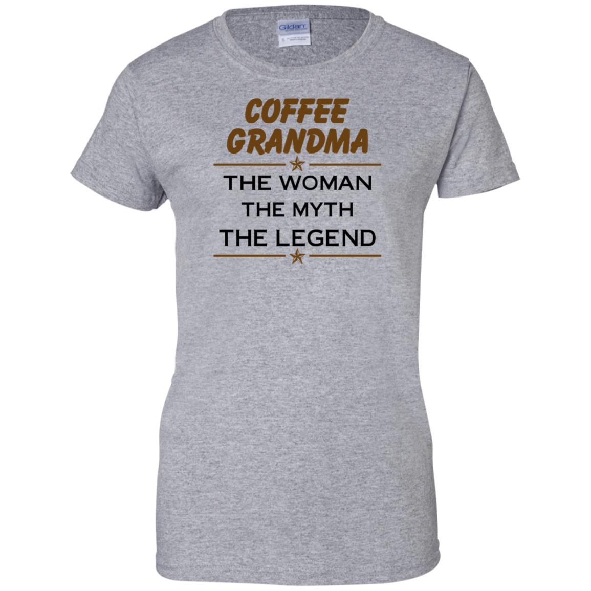 image 818px Coffee Grandma The Woman The Myth The Legend Shirt