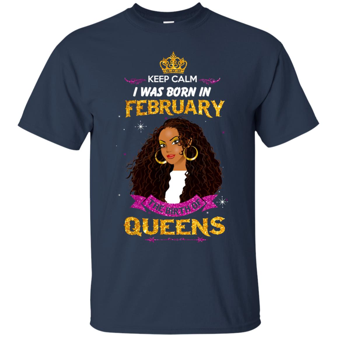 image 926px Keep Calm I Was Born In February The Birth Of Queens T Shirts, Tank Top